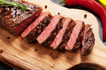 Picture of Black Angus Beef New York Strip Steaks
